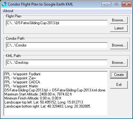 FPL to KML Converter 1.3.2